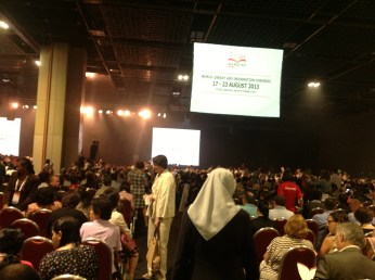 3,500 librarians from all over the world - one side of the room