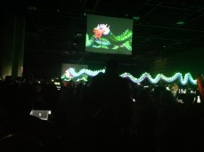 Got an opening ceremony treat - a glow dragon and intense music!