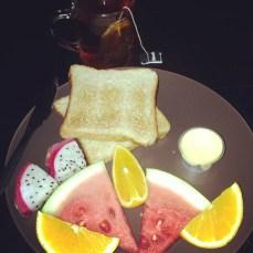 My hostel gave us breakfast each morning