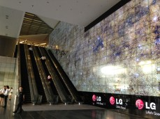 The MASSIVE, changing LG screen that greeted us to IFLA