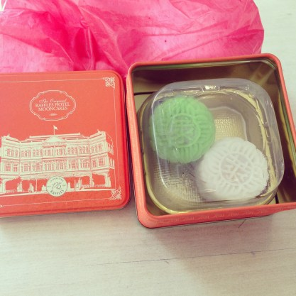 Famous mooncakes from Raffles Hotel that are only available in the fall
