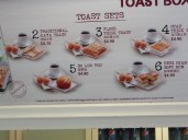 A place called Toast Box.....served toast. My favorite was the kaya toast.