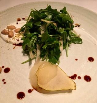 Arugula salad with pears