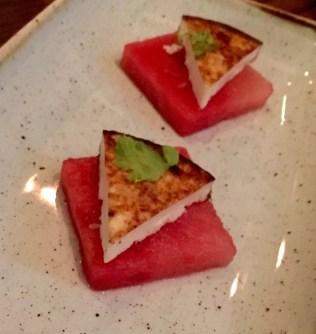 Farmer's Cheese & Watermelon