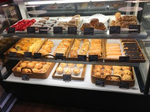 Some of the yummy baked goods. Hmmm, what to choose?
