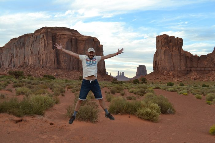 David en Monument Valley (EE.UU.)