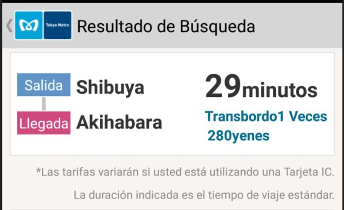 Cómo usar la App del metro de Tokio
