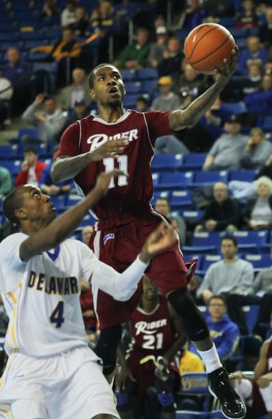 NCAA BASKETBALL 2012 - DEC 31 - Delaware defeats Rider 73-66
