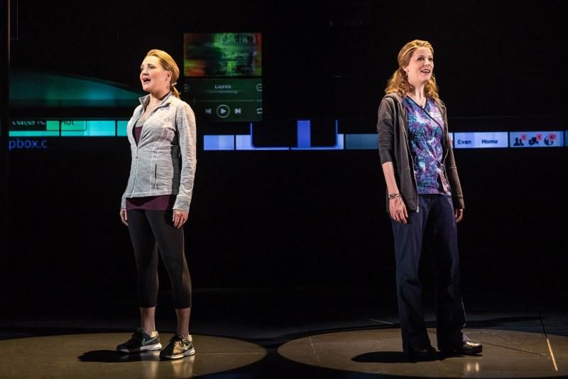 Jennifer-Laura-Thompson-and-Lisa-Brescia-in-Dear-Evan-Hansen-on-Broadway-cMatt-Murphy