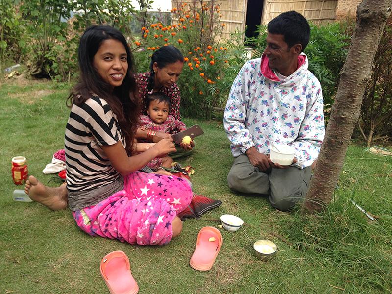 A Nepali Family in Bhaktapur