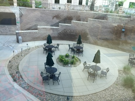 Courtyard at the hospital