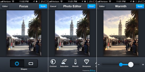 Image of Aviary photo editing app for mobile
