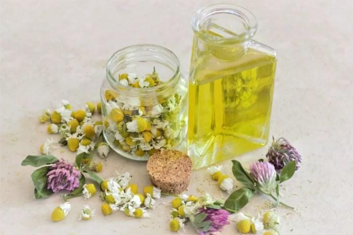 Lavender and chamomile oil