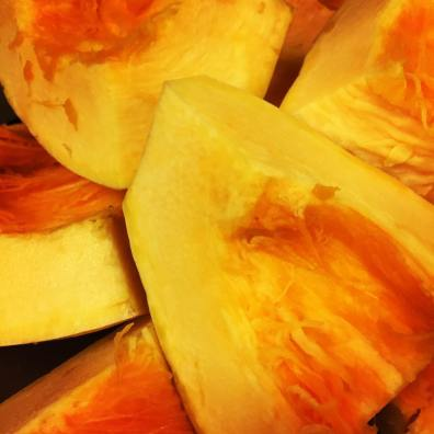 Orange vegetable squash