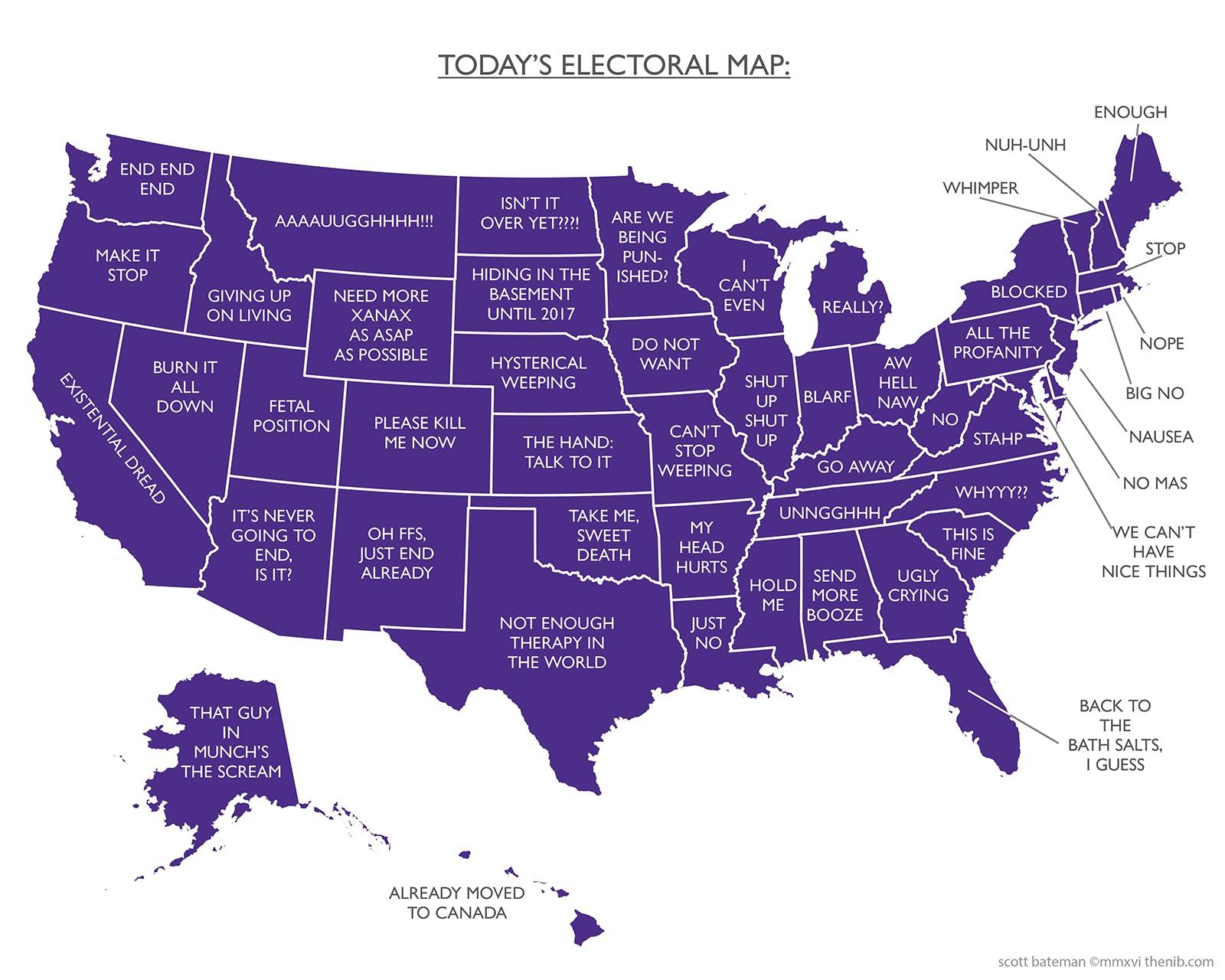 Today\'s Electoral Map – The Nib