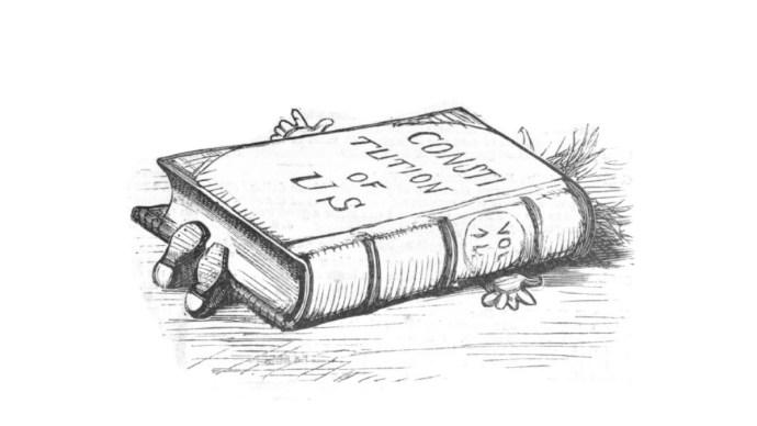 Andrew Johnson impeachment cartoon by Thomas Nast