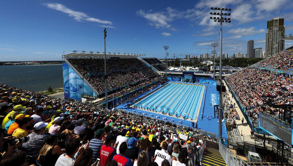 GOLD COAST, AUSTRALIA - APRIL 08: Athletics during the Commonwealth Games at Carrara Stadium on April 8, 2018 in Gold Coast, Australia. (Photo by Jason McCawley/Getty Images for GOLDOC)