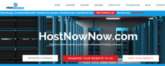 hostnownow - best hosting companies in nigeria