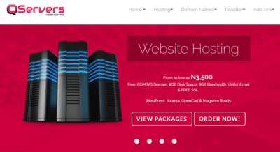 qservers best web hosting company in nigeria