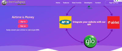 cheetahpay-convert airtime to cash in Nigeria