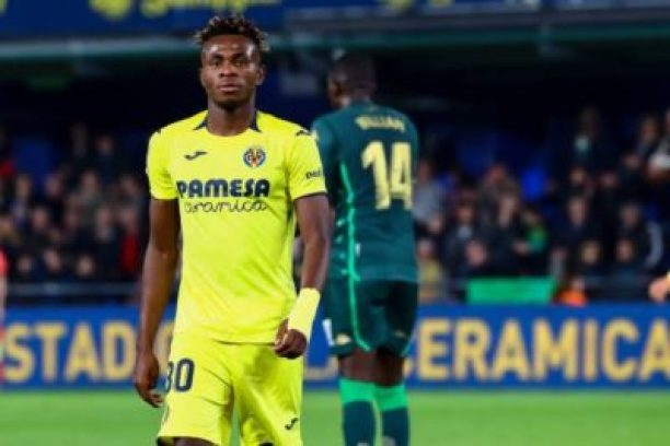 Samuel Chukwueze on the pitch for Villarreal CF