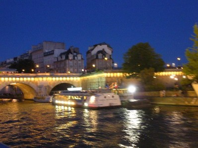 We took a riverboat cruise.  Very romantic except for the four guys who mooned us.