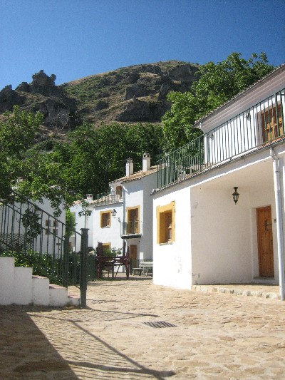 The door on the right is for our villa; it is very comfortable now that we found the air-conditioning switch!
