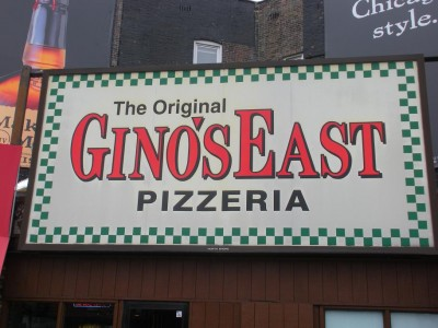 We went to eat at Gino's in Chicago.  Unfortunately Gino wasn't there.  :(