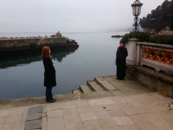 I seem to be collect interesting shots of my wife and daughter near water.