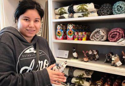 Holly Sabourin at Royal Alberta Museum Gift Shop