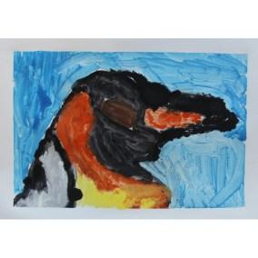 Heather B - Penguin 7x10 $35