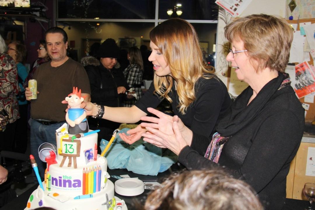 Rona Fraser and Wendy Hollo at the Nina's 13th Birthday