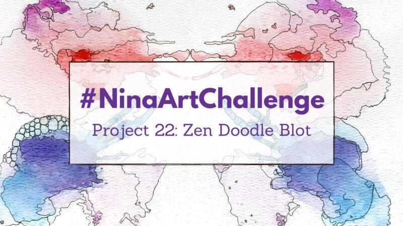 Project 22 – Water Colour Blot Doodles