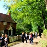...past quaint cottages...