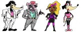"""Character Designs for the card game """"In Trivial Pursuit of Happiness"""""""
