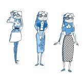 """Character designs for Mary from my comic """"The Wrong Girl"""""""