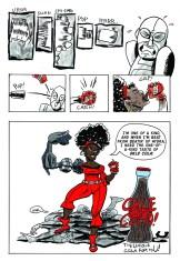A page from my Misty Knight fan comic