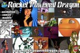 A promotional card developed for Rocket Powered Dragon.