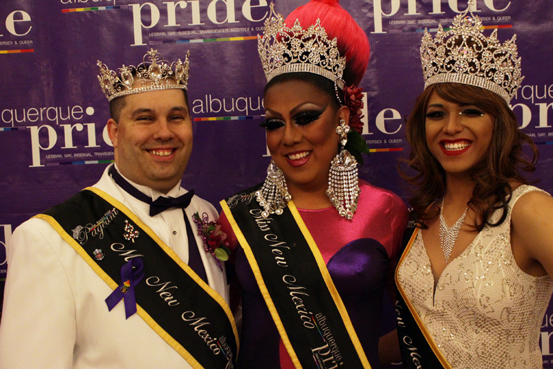 Tre Brewbaker with Lady Shug Delacruz, Miss New Mexico Pride 2016.