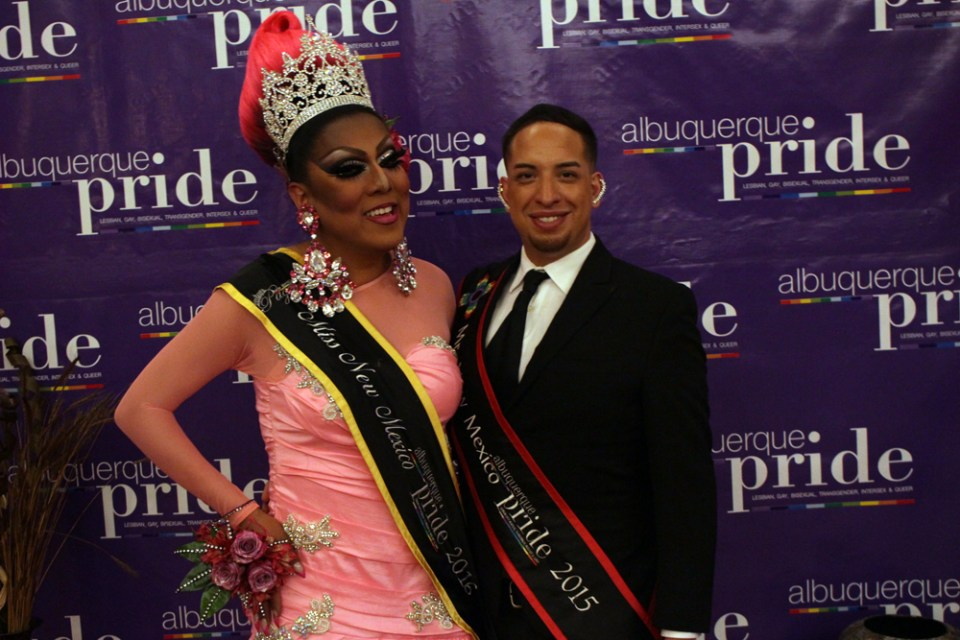 Shug Delacruz and Mr. New Mexico Pride 2015 Tyrese Taylor Stratton at the 2016 Albuquerque Outstanding Awards.