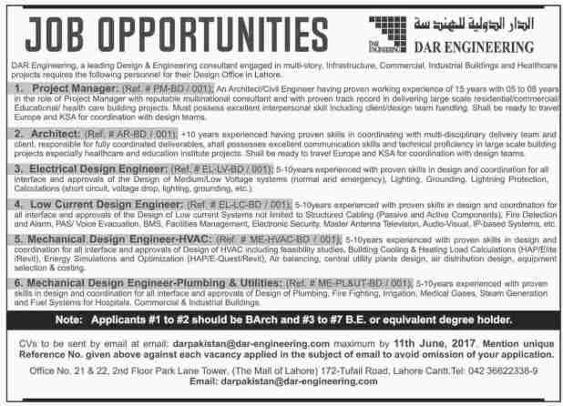 Dar Engineering Lahore Jobs 2017 How To Apply Last Date Eligibility Criteria Term and Condition