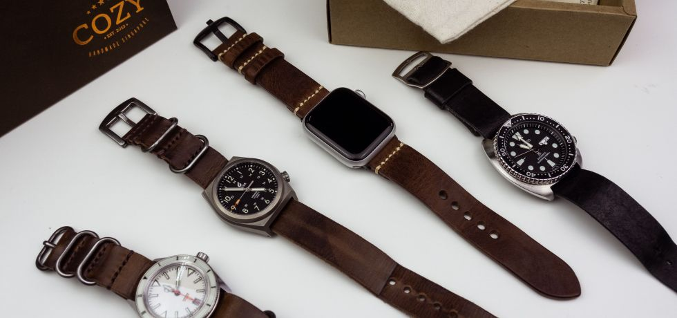 Cozy Handmade Tuscan Vegetable Tanned Leather Watch Strap