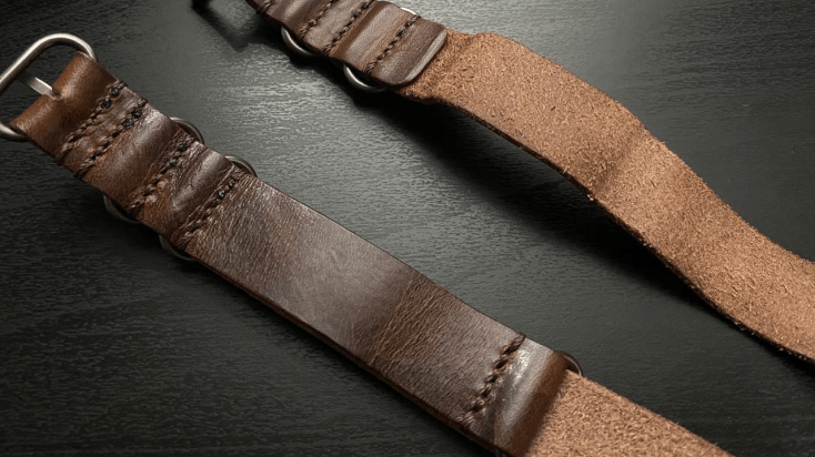 Vegetable Tanned Single Passed vs Double Passed Strap from Cozy Handmade