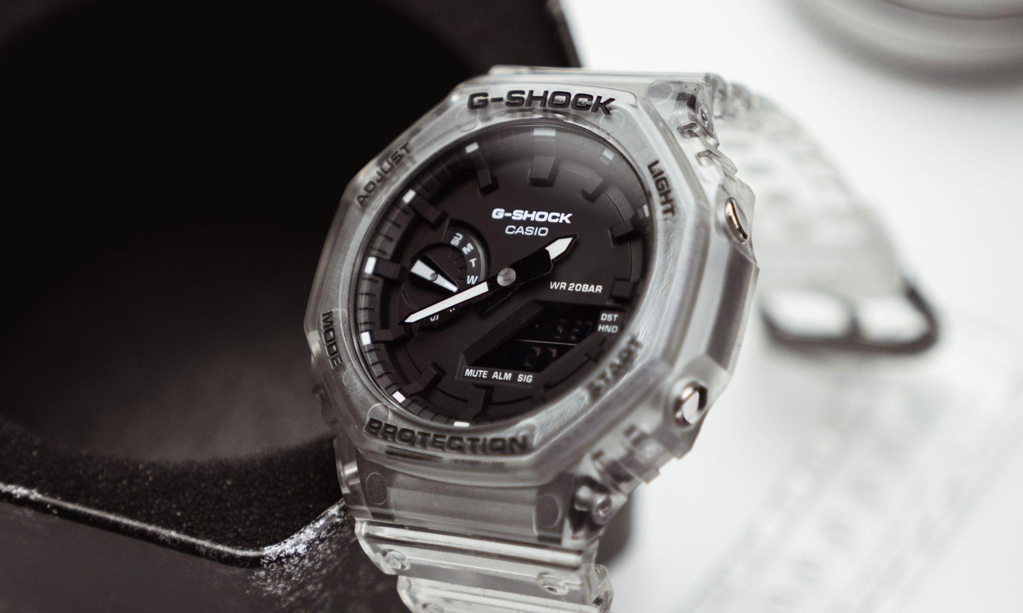 Photo of Transparent Casio G-Shock: GA-2100SKE-7ADR