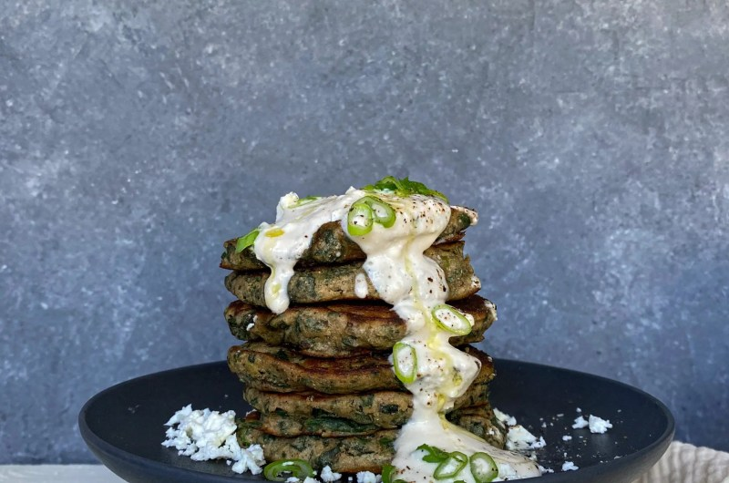 SPINACH & SCALLIONS PANCAKES