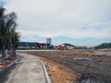 Construction site garbage, Ha Long City, Vietnam