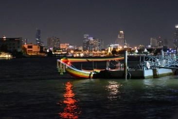 City view at night in Bangkok, Thailand