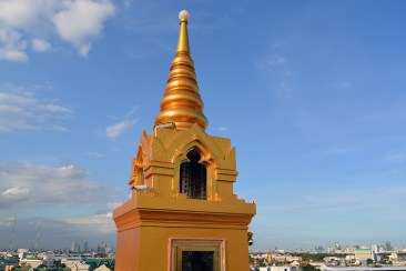 Rooftop view - A walk at The Golden Mount (Wat Saket), Bangkok, Thailand