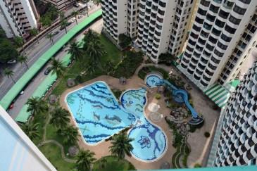Pool view at Sunny Ville Condominium, Penang, Malaysia