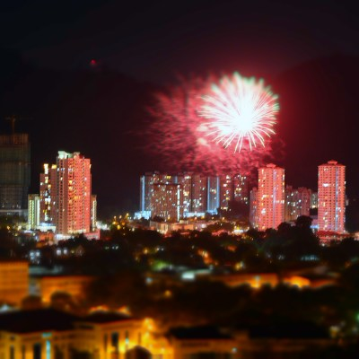 Chinese Lunar New Year fireworks, Penang, Malaysia